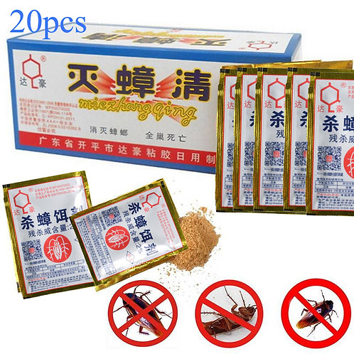 20pcs Effective Killing Cockroach Bait Powder Cockroach Repeller Insect Roach