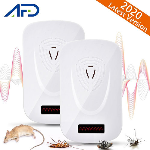 2pcs Ultrasonic Anti Mosquito Killer Mouse Cockroach Pest Repeller Insect Rats