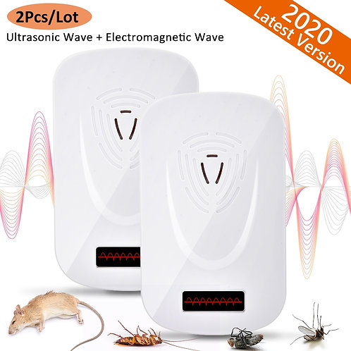 Ultrasonic Mouse Cockroach Pest Repeller Device Anti Rodent Insect Rats Spiders