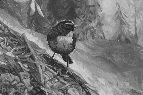 """Chickadee"" Original Painting"