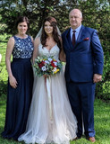 Bride hair and Makeup and Mother Hair done by Kelsey Keeton of KKD Beauty Cafe