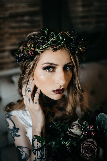 Tattooed Bride Hair and Makeup