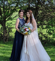Bride hair and  and Makeup and Mothers hair done by Kelsey Keeton of KKD Beauty Cafe