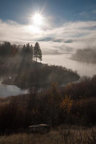 Autumn mists Clark Fork River
