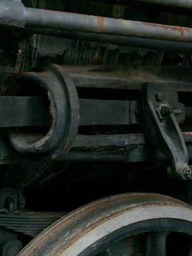 Railway engine, detail