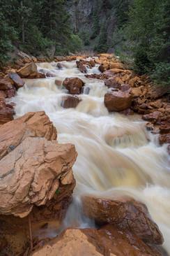 Summer runoff, Uncompahgre River, CO