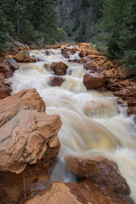 Summer runoff, Uncompahgre River, CO