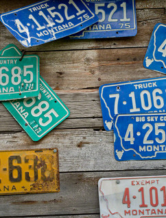 Old Montana license plates