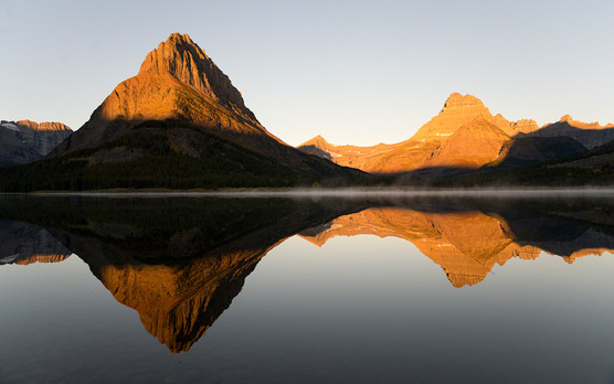 Swiftcurrent Lake sunrise