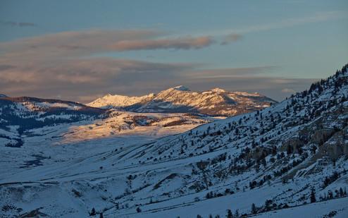Sunset Gardner valley