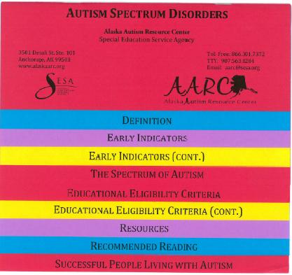 Multi color flip book ASD facts.