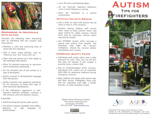 Autism Tips for Firefighters.