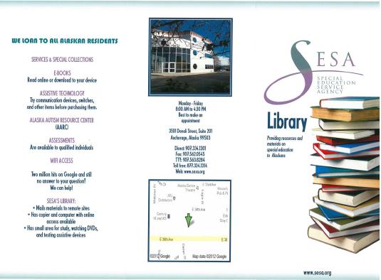 SESA Library Brochure.