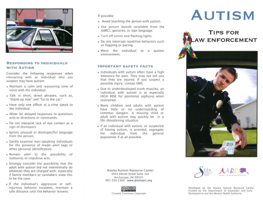 Autism Tips for Law Enforcement.