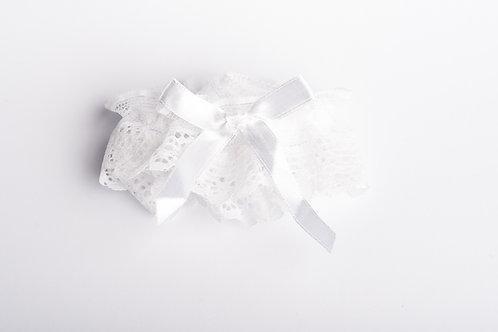 Strumpfband mit weißer Masche