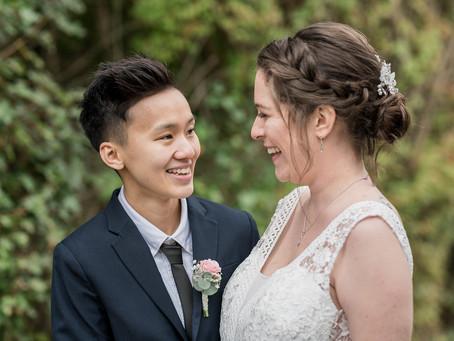 Hochzeit mit der engsten Familie