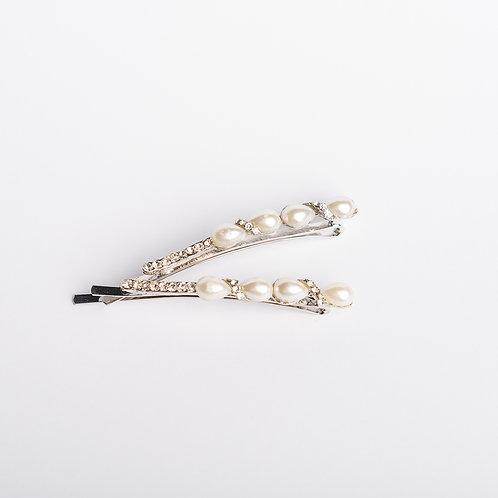 Schiebespangerl mit Perlen und Strasssteinen