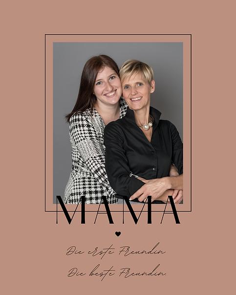 Rosa Foto Modern Feminin Grüße Muttertag