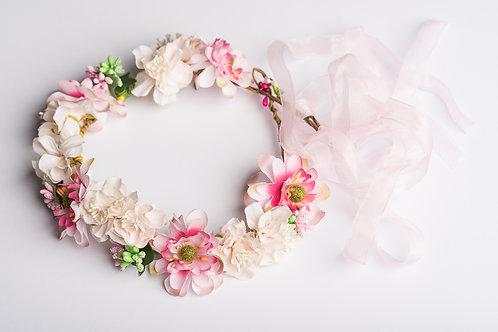 Haarkranz mit Kunstblumen