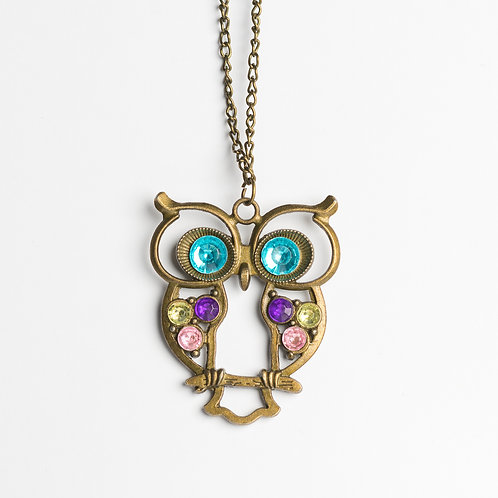 "Kette ""colorful owlet"""