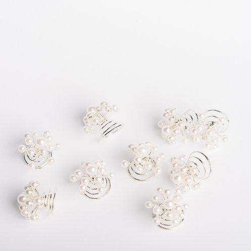 """Curlies """"high pearls"""" mit kleinen Perlen"""