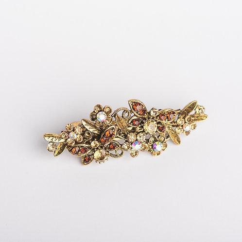 Haarspange mit Strasssteinen gold/braun