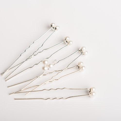 Haarnadel mit Perlen