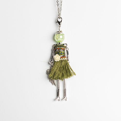 """Püppchen-Kette """"green summerdress"""""""