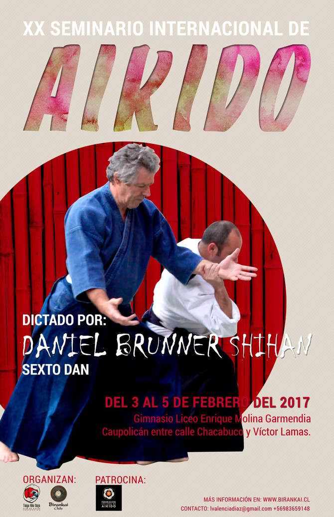 Daniel Bruner Shihan realizará XX Seminario Internacional de Aikido en Concepción