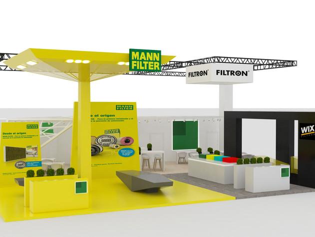 Mann+ Hummel, diseño de stand comercial.
