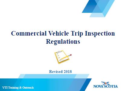 Nova Scotia Updates Commercial Vehicle Trip Inspection Regulations
