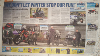 MCN Winter Riding article photo shoot, Rivington Barn, November 2017