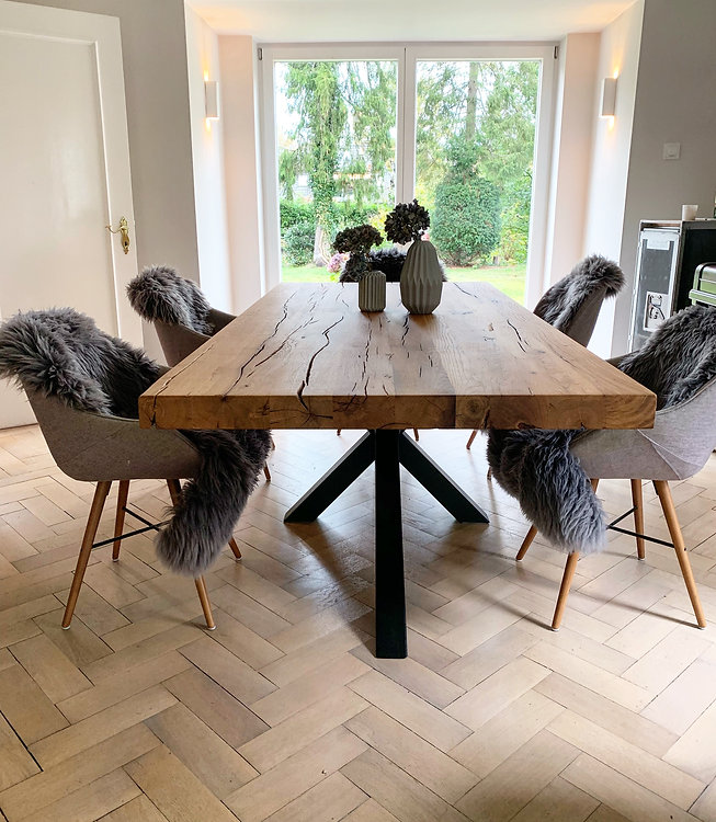 Designtisch massiv Holz Eichenholz _ Hol