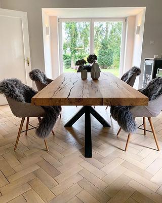 Designtisch massiv Holz Eichenholz | Hol