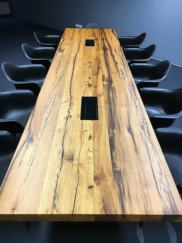 Massivholztisch Eichentisch Konferenztisch nach Maß