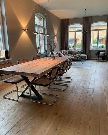 Massivholztisch Esstisch Holztisch Metallgestell auf Maß | Holzwerk-Hamburg