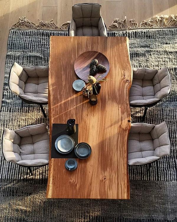 Baumtisch Unikat aus Eichenholz _ Holzwe