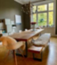 Massivholztisch aus Eichenholz _ Holzwer
