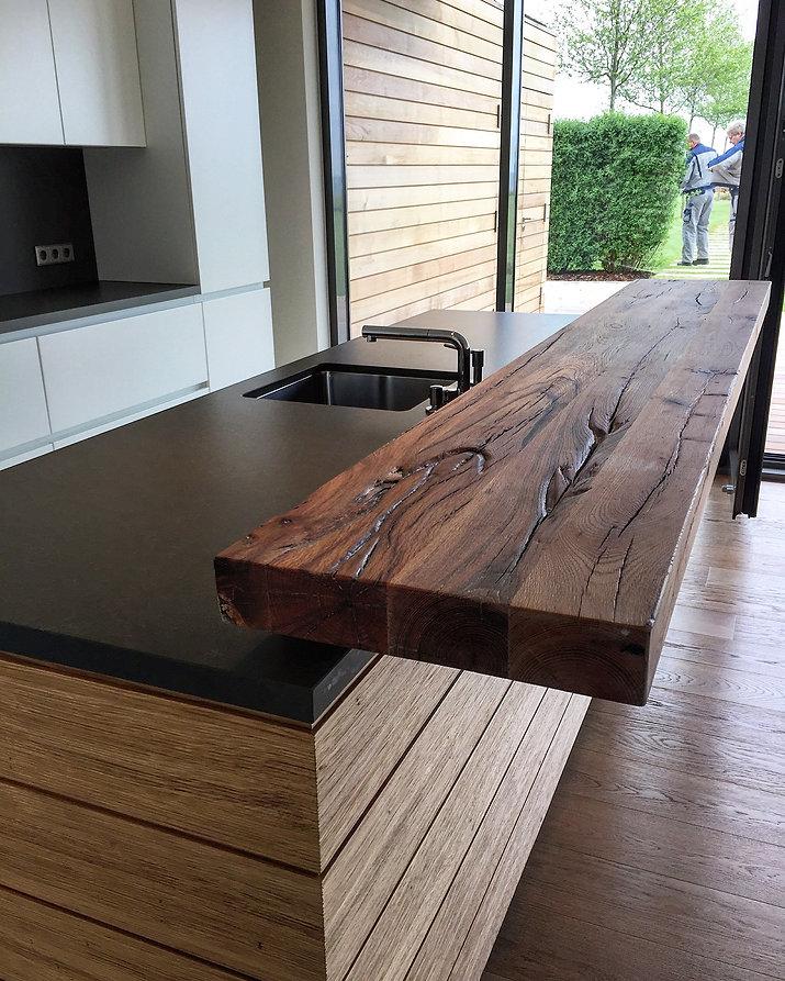 Küchentresen | Theke massiv Holz | rustikaler Tresen Holz | Holzwerk-Hamburg