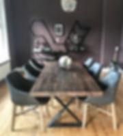 Massivholztisch aus Eichenholz auf Maß