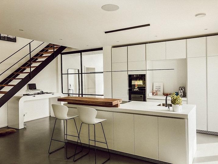 Küchentresen aus Massivholz für Bulthaupt Küche | Holzwerk-Hamburg