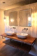 Waschtisch Konsole Waschtischkonsole Waschtischplatte massiv aus Holz auf Maß Eiche Massivholzplatte für Waschbecken  | Holzwerk-Hamburg