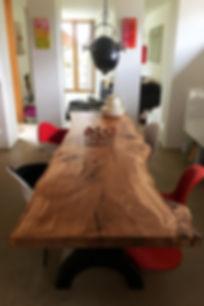 Baumtisch Baumstammtisch Stammtisch Dinningtable Table Oak Esstish Massivholztisch | Holzwerk-Hamburg