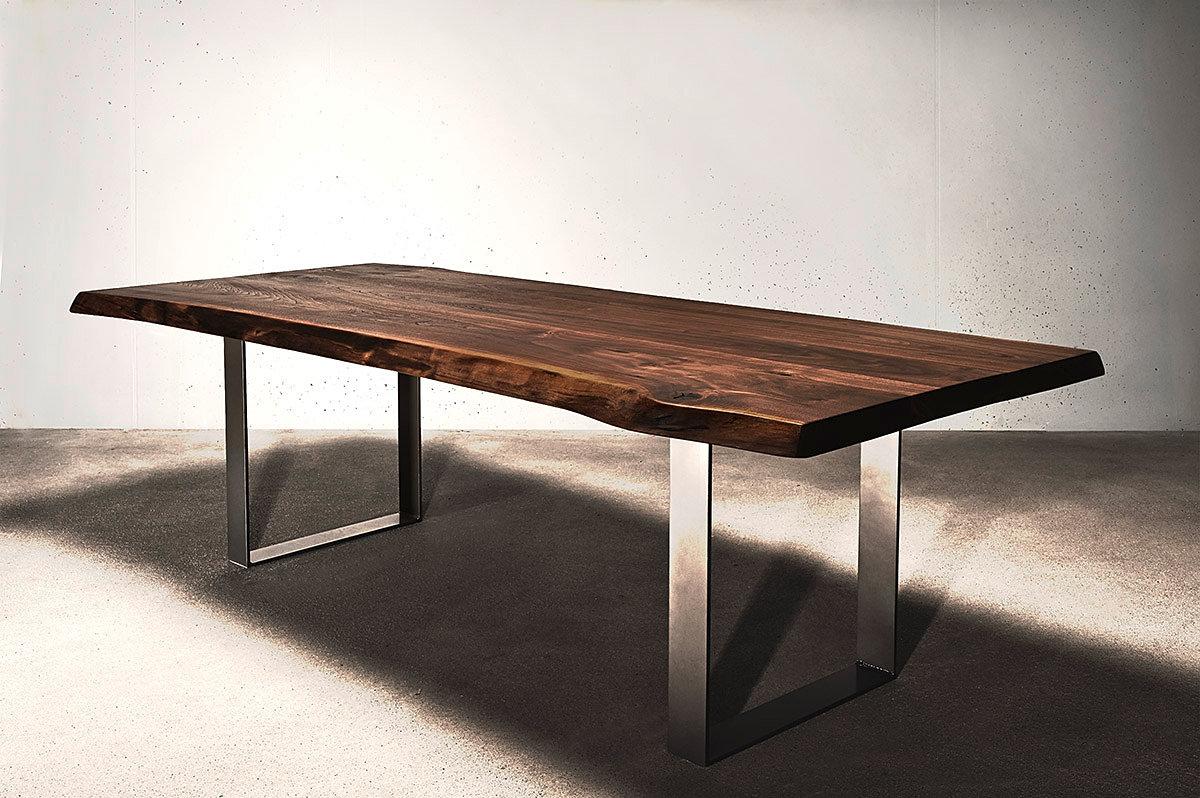holzwerk hamburg designertische aus massivholz esstisch massivholztisch mit edelstahlf en. Black Bedroom Furniture Sets. Home Design Ideas