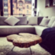 Couchtisch / Wohnzimmertisch aus einer Baumscheibe | Holzwerk-Hamburg