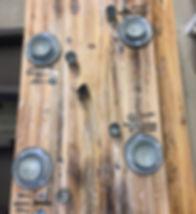 Tischplatte aus Altholz