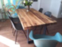 Esstisch | Massivholztisch aus Eichenholz-Altholz | Eichentisch rustikal | Holztisch | Dinningtable | Holzwerk-Hamburg