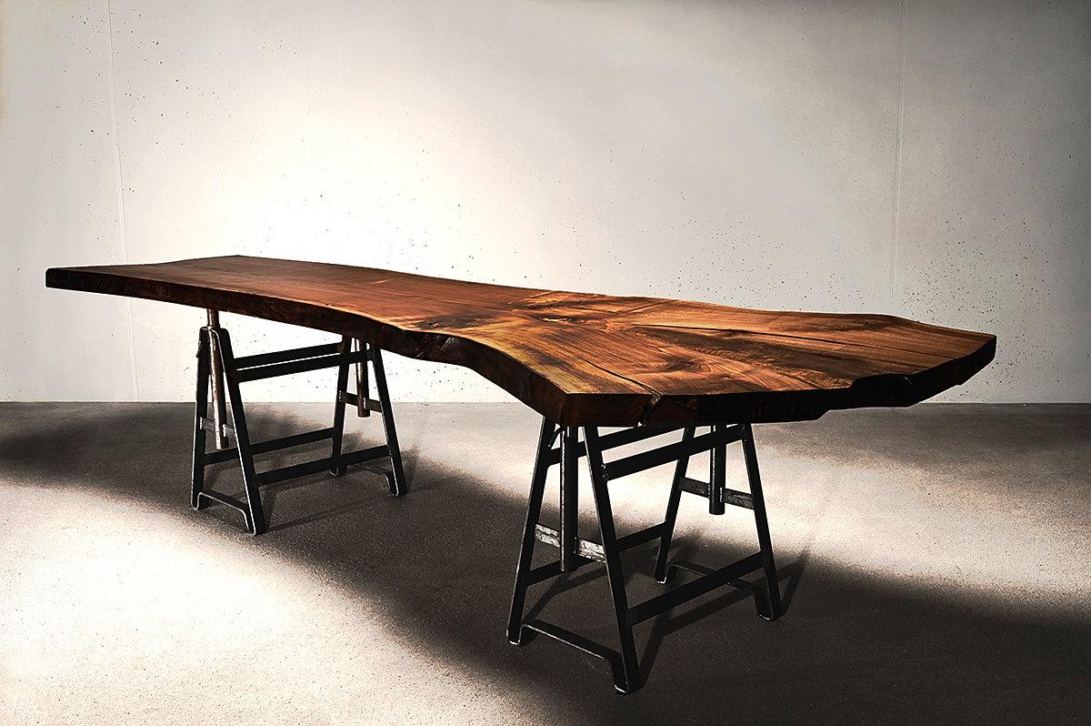 holzwerk hamburg designertische aus massivholz baumtisch massivholzplate naturholzplatte. Black Bedroom Furniture Sets. Home Design Ideas