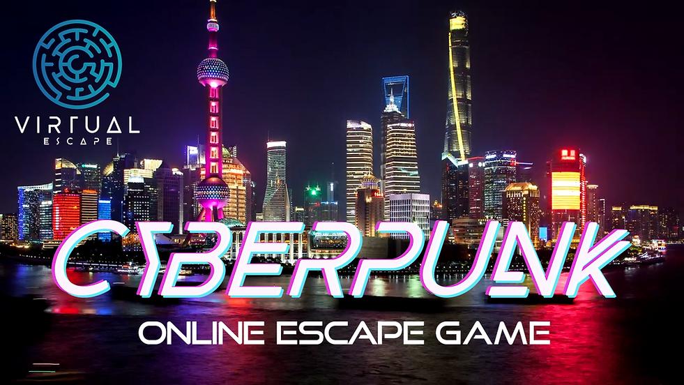Titel Online Escape Game Cyberpunk quer.