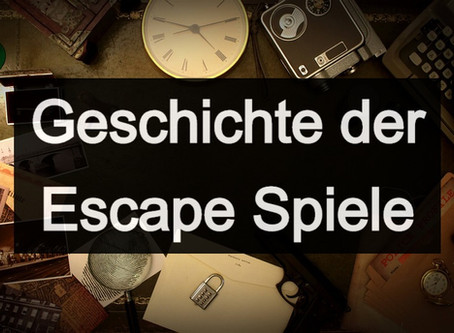 Die Geschichte der Escape Room Spiele